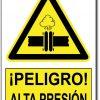Peligro alta presión