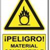 Peligro material combustible