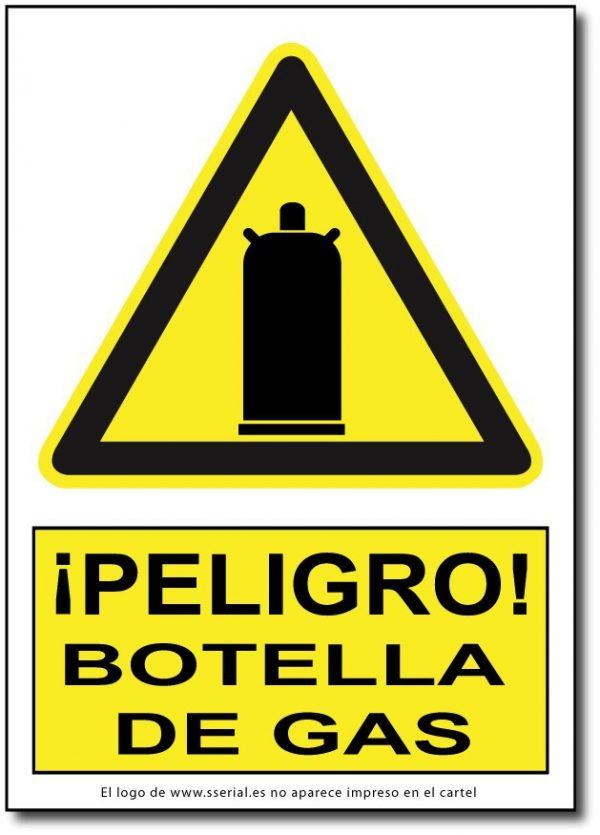 Peligro botella de gas
