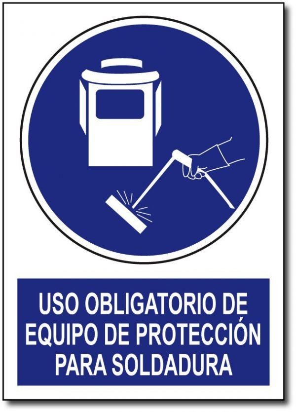 Uso obligatorio de equipo de protección para soldadura