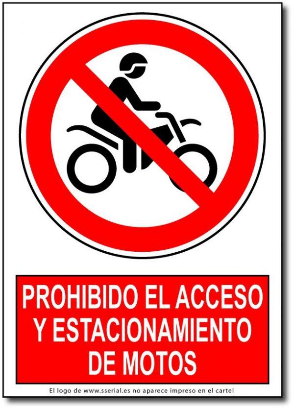 Prohibido el acceso y estacionamiento de motos