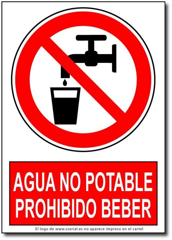 Agua no potable prohibido beber