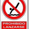 Prohibido lanzarse de cabeza